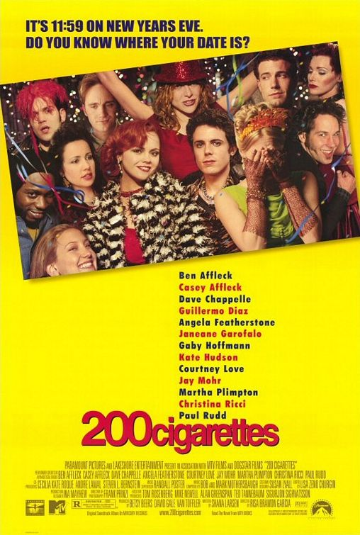 The movie poster featuring the whole cast. The woman covering her face in the lower right-hand corner is Monica.