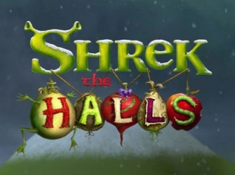 Title screen for Shrek The Halls.
