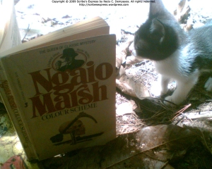 My kitten, Agatha, is impressed by Marsh's mysteries.