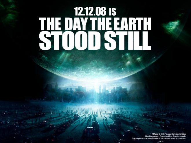 Wallpaper of The Day the Earth Stood Still from the official website.