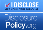 Get your own policy for your blog at http://disclosurepolicy.org
